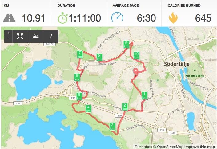 Löpning 11km